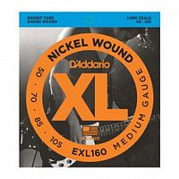 Струны D`Addario EXL160 Nickel Wound Bass, Medium, 50-105, Long Scale