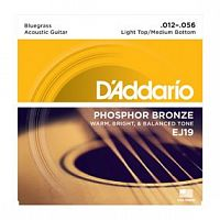Струны D`Addario EJ19 Phosphor Bronze, Bluegrass, 12-56