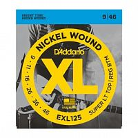 Струны D`Addario EXL125 Nickel Wound, Super Light Top/ Regular Bottom, 9-46