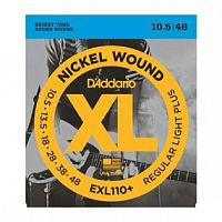 Струны D`Addario EXL110+ Nickel Wound, Regular Light Plus, 10.5-48