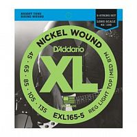 Струны D`Addario EXL165-5 Nickel Wound 5-String Bass, Custom Light, 45-135, Long Scale