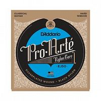 Струны D`Addario EJ50 Pro-Arte Black Nylon, Hard Tension