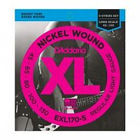Струны D`Addario EXL170-5 Nickel Wound 5-String Bass, Light, 45-130, Long Scale