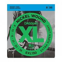 Струны D`Addario EXL130 Nickel Wound, Extra-Super Light, 8-38