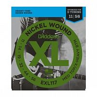 Струны D`Addario EXL117 Nickel Wound, Medium Top/Extra-Heavy Bottom, 11-56