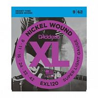 Струны D`Addario EXL120 Nickel Wound, Super Light, 9-42